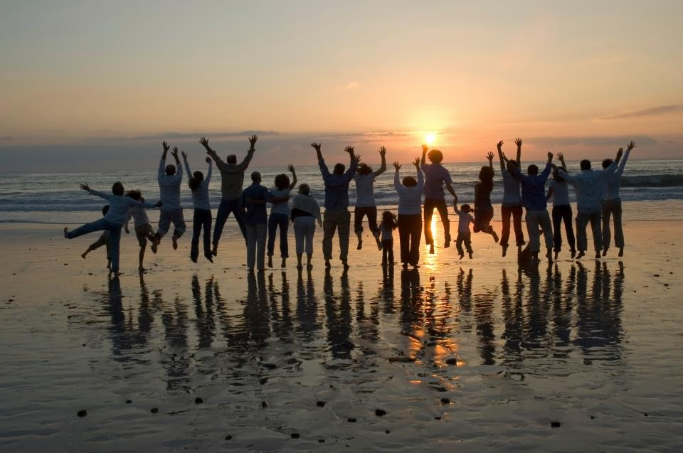 group-picture-sunset