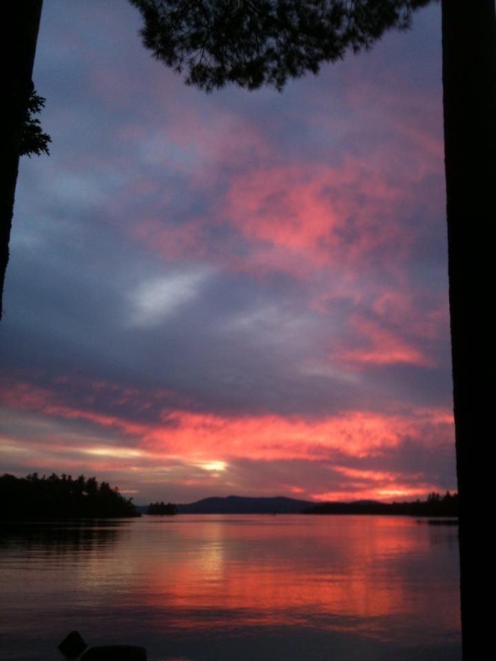 Sunset at Sebago